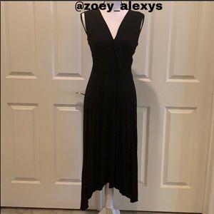 IDEOLOGY Maxi Asymmetrical Black Dress Size 8